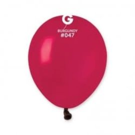 "Burgundy 5"" Latex Balloons, 100ct"