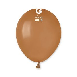 "Mocha 5"" Latex Balloons, 100ct"