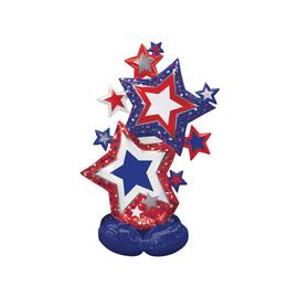 Airloonz Patriotic Star Cluster