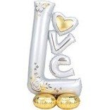 Airloonz Silver and Gold Love Balloon