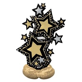 Airloonz Black and Gold Star Cluster