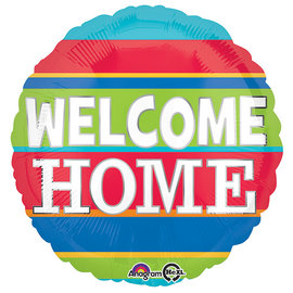 """Welcome Home Stripes Balloon, 18"""""""