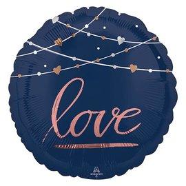 "Navy Wedding- Better Together Foil Balloon, 18"""