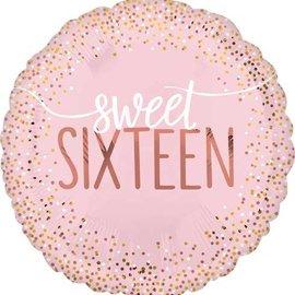 "Sweet Sixteen Blush Foil Balloon, 18"""