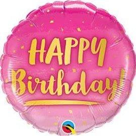 """Birthday Gold & Pink -18"""""""