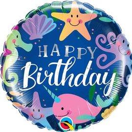 "Birthday Fun Under The Sea Foil Balloon, 18"""