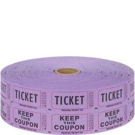 Purple Double Ticket Roll - 2000ct