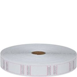 Blank White Single Ticket Roll- 2000ct