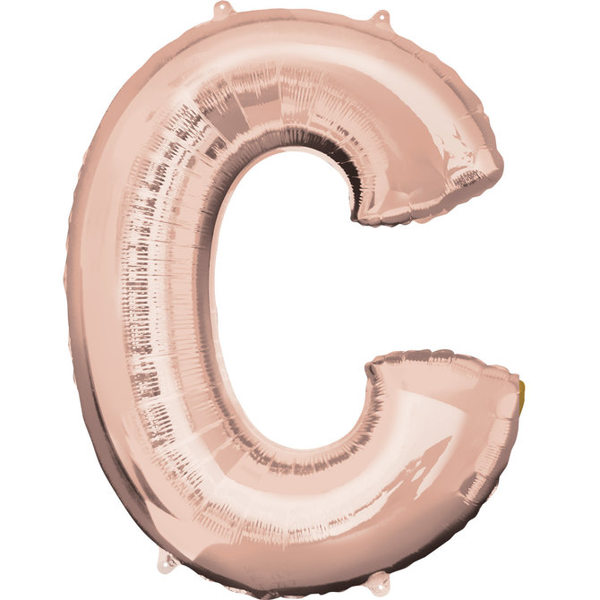 """16"""" Letter C- Rose Gold"""