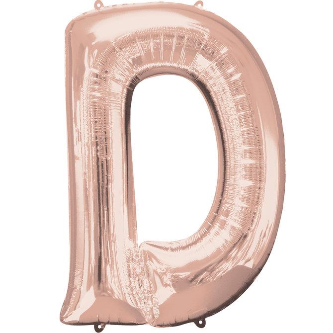"""16"""" Letter D- Rose Gold"""