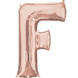 """16"""" Letter F- Rose Gold"""