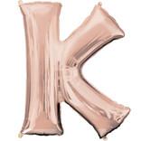 """16"""" Letter K- Rose Gold"""