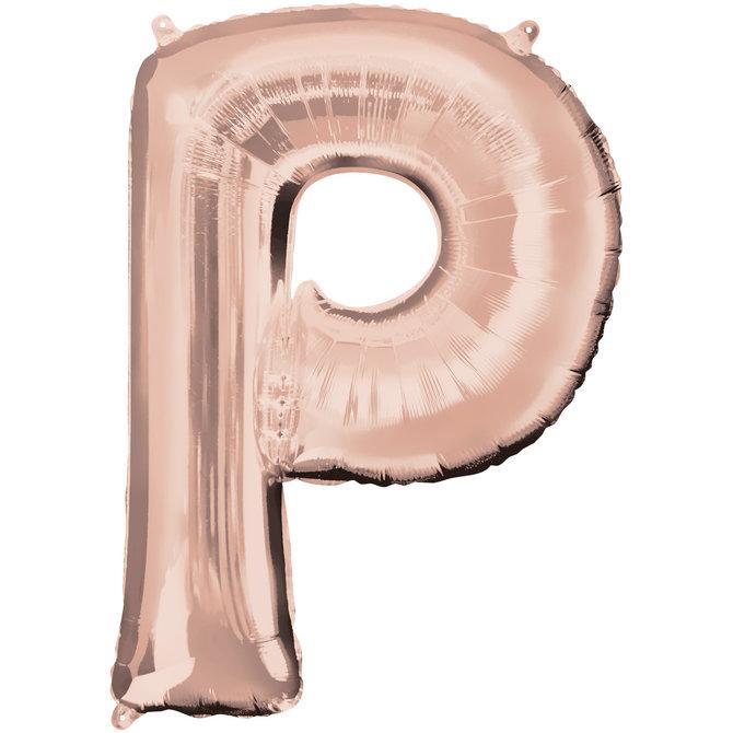 """16"""" Letter P- Rose Gold"""