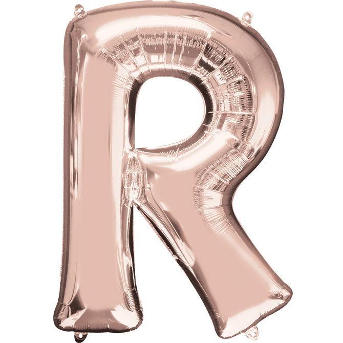 """16"""" Letter R- Rose Gold"""