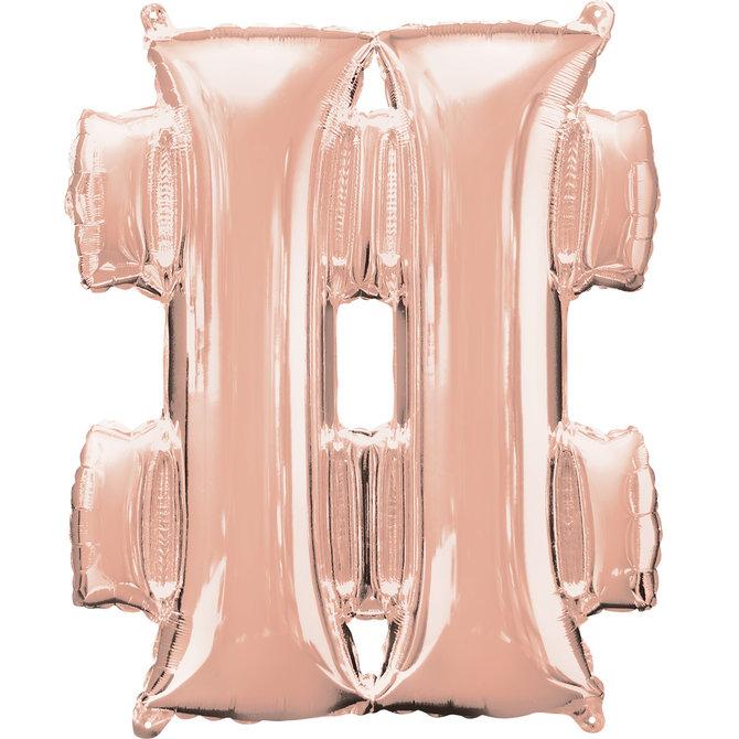 """16"""" Symbol Number Sign- Rose Gold"""