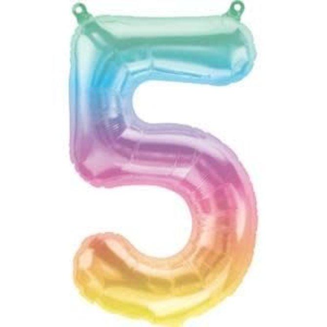 """16"""" Number 5 - Rainbow"""