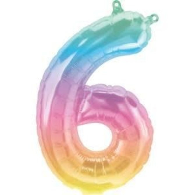 """16"""" Number 6 - Rainbow"""