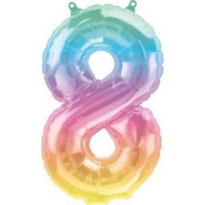 """16"""" Number 8 - Rainbow"""