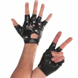 Studded Fingerless Gloves