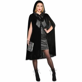 Hooded Cape w/ Oversized Bow