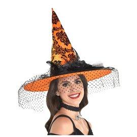 Orange Fancy Witch Hat