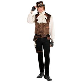 Steampunk Vest w/ Attached Shirt - Large/ X-Large