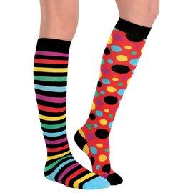 Clown Mis-Matched Knee Socks