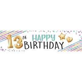 13th Birthday Banner