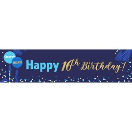 16th Birthday Banner 4 x 1