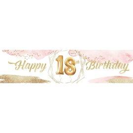 18th Birthday Banner 4 x 1 - Girl