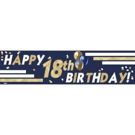 18th Birthday Banner 4 x 1 -Boy