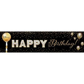 Cheers to a Happy Birthday Banner, 4 x 1