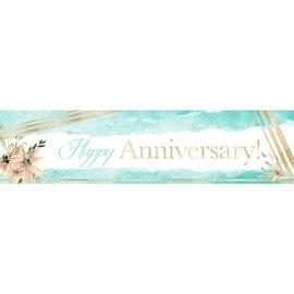 Happy Anniversary Banner, 4 x 1