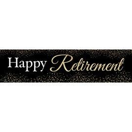 Happy Retirement Banner 4 x 1