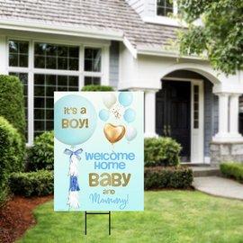 It's a Boy Balloon Yard Sign