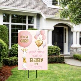 It's a Girl Balloon Yard Sign