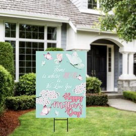 Mother's Day Butterflies Yard Sign