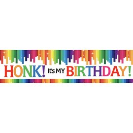 Rainbow Birthday Banner, 4 x 1