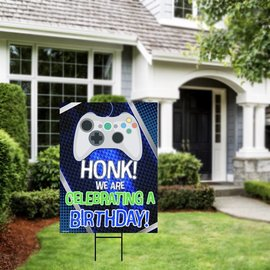 Honk Its My Birthday - Gamer Yard Sign