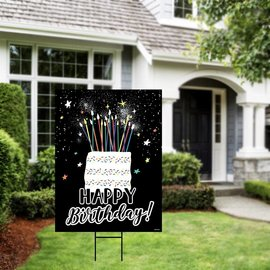 Birthday Cake Yard Sign