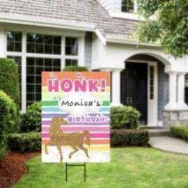 Honk It's My Birthday - Unicorn Yard Sign