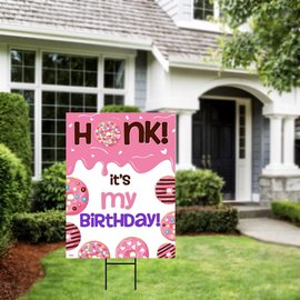 Honk It's My Birthday- Donut Yard Sign