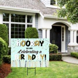 Celebrating a Birthday Yard Sign