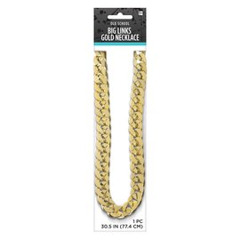 Old School Big Links Gold Necklace