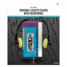 Portable Cassette Player w/ Headphones