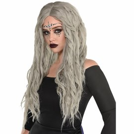 Bohemian Waves Grey Wig