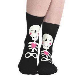 Skeleton Glow In The Dark Crew Socks