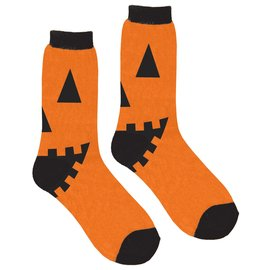 Jack-O-Lantern Crew Socks