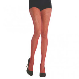 Red Fishnet Stockings - Adult