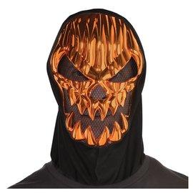 Scary Pumpkin Metallic Mask